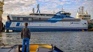 Emission measurement on the new LNG-powered ferry Willem Barentsz